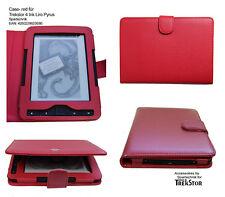 Custodia pelle* per Trekstor 4 , Liro Ink & TrekStor PYRUS Lettore e-book rosso