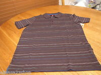 Men's Quiksilver Lowery Polo stripe shirt grey $45 S SM 108245 MM007 surf skate