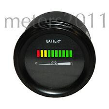 "2"" Golf Cart Battery Indicator, Meter 24 Volt Round, Solar EV"
