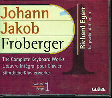 Coffret CD album: Johann Jakob Froberger. Richard Egarr. globe 2 CDs. E