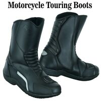 100% Leather Mens Motorbike Boots Biker Waterproof CE Armoured Shoes Motorcycle