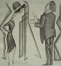 Pigalle Sacha Guitry & Yvonne Printemps Autori Caricature 1929 Page Print 6606