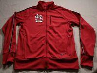 Nike Dri-Fit St. Louis Cardinals Track Jacket MLB Baseball M Red
