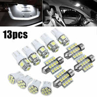 13pcs LED Package Interior For Dome Map License Light T10&31mm Bulb Lamp White