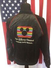Vtg 80s Walt Disney Channel Satin Jacket men MEDIUM Mickey Mouse Michael Jackson