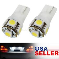 2 x W5W 168 194 2825 Bright White 5 5050 SMD LED Bulbs For License Plate Lights