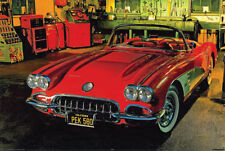 Corvette Poster 24 x 36 Vintage 1958 American Classic Muscle Car Print New