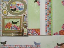 Hunkydory 6 x A4 sheets Toppers Card Paper Kit - Birdie Blooms love Valentine's