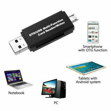 Micro Usb to Usb 2.0 Otg Adapter Sd & Micro Sd Card Reader For Smartphone Laptop