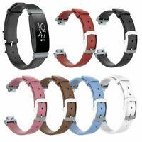 Echtes Leder Armband Uhrenarmband Strap Ersatz für Fitbit Inspire / Inspire HR