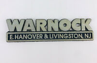 Dealer promotional NAMETAG BADGE EMBLEM Warnock E. Hanover & Livingston N.J