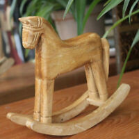 Nordic Wood Crafts Horse Statue Wedding Decor Desktop Rocking Horse Ornament