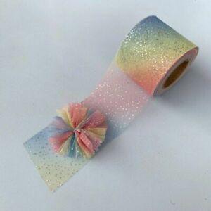 Colorful Gradient Organza Satin Ribbon Diy Bow Ribbon Wedding Party Decoration