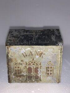 Original 1880's Stenciled Tin House Penny Bank Primitive Antique Toy