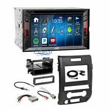 JVC 2018 DVD USB Bluetooth Stereo 2 Din Dash Kit Harness for 2009-12 Ford F-150