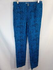 STYLE & CO. Blue Black Cotton Stretch Skinny Low Rise Jean Snake Skin Print sz 4