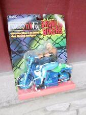 Lucha Libre WCW/NWO Brawlin ' Bikers Diamante Dallas Figura Moto Juguete Biz