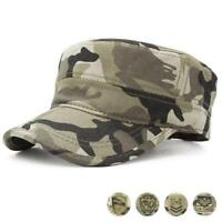 Mens Camouflage Baseball Cap Tactical Marines Navy Trucker Flat Bones Snapback