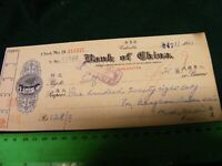 Calcutta,India...Old used cheque/check ... Bank of China..1961.