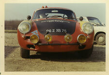 PHOTO ANCIENNE - VINTAGE SNAPSHOT -VOITURE AUTOMOBILE PORSCHE 356 MONTLHÉRY -CAR