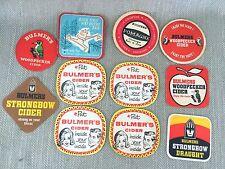 Bulmers Cider Vintage Beermats Coaster Beer Mat Job Lot x 11 60s 70s