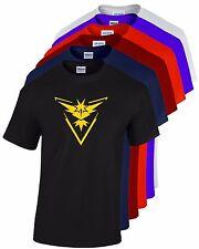 Mens Tshirt Team Instinct Logo Pokemon Go Quality Printed T-shirts - 7 colours