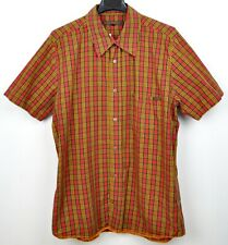 NUDIE JEANS Men's Large 100% Cotton Casual Shirt Checked Stitched Nr. 2 Tartan