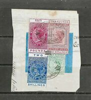 Various 1882 New Zealand Stamp Duty, QV , Postal Fiscals, On Paper, FU