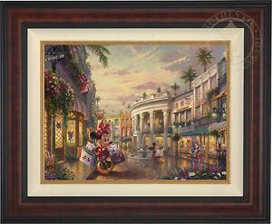 Thomas Kinkade Disney Minnie Rocks the Dots on Rodeo Drive 18 x 24 LE G/P Canvas