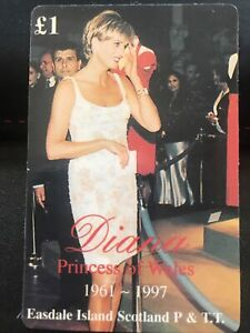 Lady Diana Princess of Wales 1961-1997 Phonecard £1 Easdale Island Ltd Edition