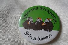 Approved by experts GEEST BANANAS pin lapel button badge,free u.k. p&p