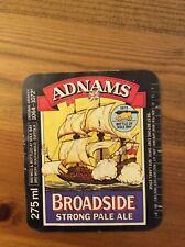 Adnams Broadside Strong Pale Ale beer bottle label