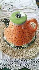 Mary Engelbreit Teapot 1997 Charpente Full Size Flare Bottom Htf Rare Unique