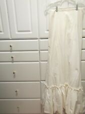 Vintage Womens Petticoat Bridal Gown Flare White Ruffles 2 1/4 Layers