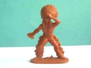 1 x JEAN HOEFFLER. WILD WEST INDIAN WARRIOR. 1/32 PLASTIC TOY SOLDIER