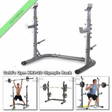 Golds Gym XRS 20 Olympic Workout Training Squat Rack Weight Lifting Bench Stand