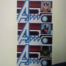 Marvel Heroclix OP 3x ID Cards AUID-102, 103, 104 Thor, Hulk, Capt. America