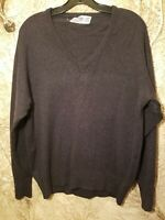 VTG Ballantyne Of Peebles 100% Cashmere V-Neck Sweater Made In Scotland Sz Large