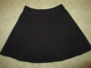 "Banana Republic Woman's Black Skirt Size OP Flare Skirt 16-1/4"" Long Back Zipper"