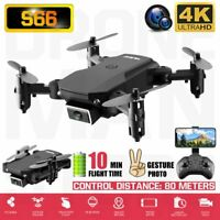 Drone X Pro Aircraft Wifi FPV 4K HD Camera Foldable 6-Axis RC Remote Quadcopter