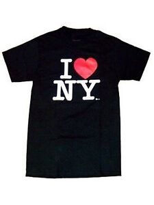 I Love NY T-Shirt Black 100% Cotton Official Licensed New York Tee NYC Souvenir