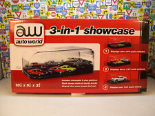 3IN1 DISPLAY CASE BY AUTO WORLD FOR 1:64, 1:43 OR 1:24 SCALE DIECAST MODEL CARS