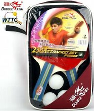 Double Fish 236A 2 players Table Tennis Racket Sets Long Handle & balls & Cover