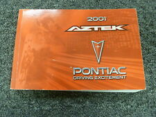 2001 Pontiac Aztek SUV Owner Owner's Manual User Guide GT AWD 3.4L V6