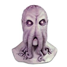 Lovecraft Cthulu Mask HP Grey Octopus Monster of R'Lyeh Latex Horror Costume