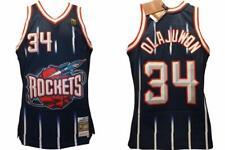 1996-97 Hakeem Olajuwon #34 Rockets Mens Sizes L-XL Mitchell & Ness Jersey $130