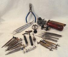 Vintage Watchmaker's Tools Screwdriver Pliers Non-Magnetic Tweezers Hand-vise