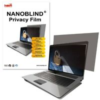 """15.6"""" inch WIDE (344.5x195.1mm) NANOBLIND Privacy Screen Filter Film for Laptop"""