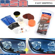 Car Headlight Lens Restoration Repair Kit Polishing Cleaner Cleaning Tool DIY