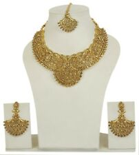 5050  Indian Jewelry Bollywood Necklace Ethnic Gold Plated Traditional Set